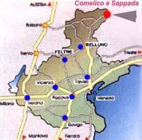Cartina Del Veneto E Friuli.Come Arrivare A Sappada Dolomiti Mappa E Cartina Stradale